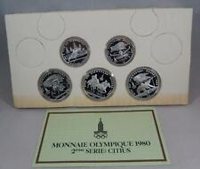 USSR Russia 1980 Olympic Series 2 1978 Silver Proof 5 10 Rouble 5 Coin Set CB223