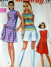 LOVELY VTG 1970s PANTDRESS Sewing Pattern 10/32.5