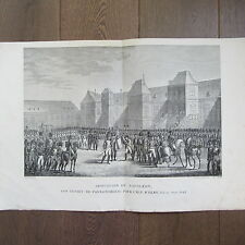 GRAVURE 1850 PAR VERNET NAPOLÉON 1814 ABDICATION DÉPART POUR L'ILE D'ELBE