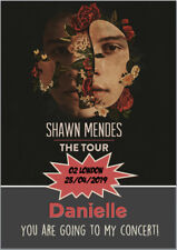 Shawn Mendes The Tour Concert Tickets Ticket Card Birthday A5 Personalised Any