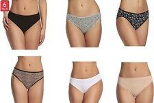 Felina Women's 6 Pack Cotten Stretch Hi-Cut Panties - Size: Large (7)        D-5
