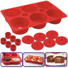 STAMPO IN SILICONE FORMA PER DOLCI PASTE 6 TORTINE CUPCAKE SECRET CUCINA PARTY