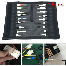 18x Car Terminal Removal Tool Kit Wiring Connector Pin Release Extractor Puller