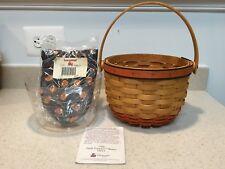 Longaberger 1996 Pumpkin Basket Combo w/ Liner & Protector