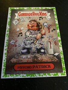 2019 Garbage Pail Kids Revenge of Oh The Horror-ible!#1A Psycho Patrick Green
