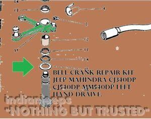NEW STEERING BELL CRANK REPAIR KIT FOR JEEP MAHINDRA CJ340DP CJ540DP MM540DP LHD