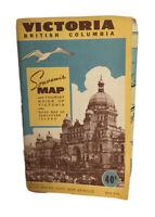 Vintage Souvenir Map & Tourist Guide of Victoria British Columbia