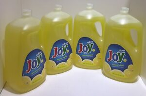 Ultra Joy Lemon Scent Dishwashing Liquid (4)-90 fl oz Bottles 360 Fl Oz Total