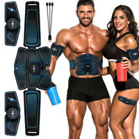 Muscle Abdominal Ems Trainer Stimulator Abs Training Hip Fitness Belt Toner