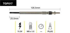 Tridon Glow Plug TGP017 fits Land Rover Range Rover Sport 2.7 TDV6 4x4 (LS) 1...