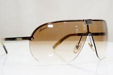 GUCCI Mens Vintage 1990 Designer Sunglasses Silver Shield GG 1853 RGQDR 26602