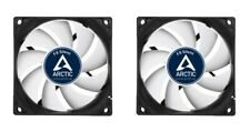 2 x Pack of Arctic F8 Silent, 80mm 8cm PC Case Fan, High Performance 6 Year Warr