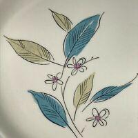 """One (1) MCM Retro Turquoise Dinner Plates Royal Windsor Salem Biscayne 9.25"""""""