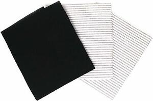 3 x Grease and Carbon Cooker Hood Filters Universal Cut to Size Charcoal Filter