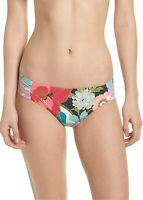 Trina Turk Women's 182974 Shirred Side Pant Bikini Bottom Swimwear Size 10