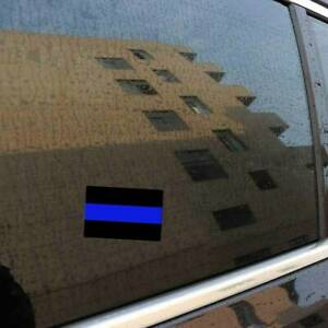 Thin blue line mini sticker decal license plate car for police officers truck