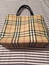 Burberry Authentic Handbag GUC Coated CanvasLeather Straps Medium Lovely Bag