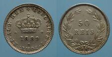 PORTOGALLO 50 REIS 1889 LUIZ I qFDC 2