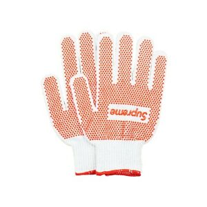New Red White Supreme Grip Work Glove SS18  AUTHENTIC