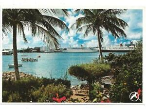 CRUISE SHIPS AND PALM TREES, UNPOSTED, BERMUDA