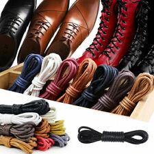 Stylish Round Shoelaces Waxed Leather Shoes Sport Unisex Strings Shoe Laces Cord