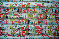 Merry Main Street Alexander Henry, Half Yard,  Retro Christmas, Cotton Fabric