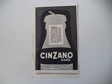 advertising Pubblicità 1953 CINZANO SODA