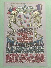 Phil Lesh & Friends SIGNED Wavy Gravy 69th Birthday Concert Poster 2005 SEVA
