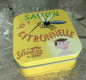 französische Seife mit Olivenöl Mücken Schreck Schmuckdose  Zitronengras Duft