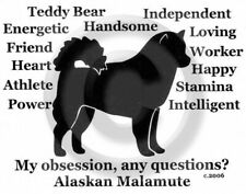 Alaskan Malamute Dog Obsession? Long sleeve T-shirt Choice Size and Color Sale