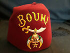 """Collectible Boumi Temple Hat Cap Fez With Tassel Masonic Shriner Fraternity 10"""""""