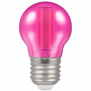 PINK LED ROUND FILAMENT HARLEQUIN 4.5W CROMPTON ES E27 13889