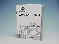 Minolta Dynax 40 Bedienungsanleitung instruction manual - (100851)