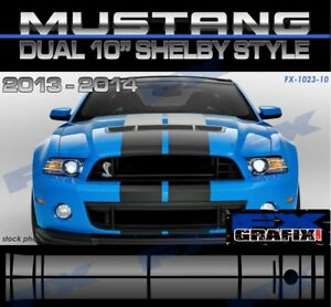 2013 - 2014 Ford Mustang Shelby Lemans Roush Style Rally Stripes Dealer Quality