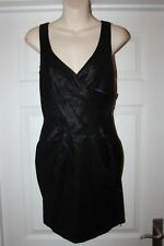 Ladies Black Miss Selfridge Wet Look Dress Size 10 Sexy Party Outfit