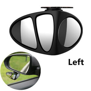 1Pcs Wide Angle Blind Spot Convex Mirror 360° Rotation Lens For Car Main Driving