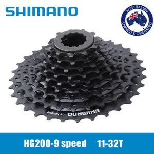 AU Shimano Acera Alivio CS-HG200-9 MTB Bike 9 Speed Cassette 11-32T Black