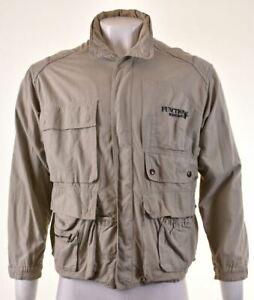 MURPHY & NYE Mens Military Jacket Size 38 Medium Khaki Cotton LI10