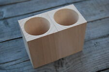 Set Two Wooden Square Cups, 100% of Natural Wood