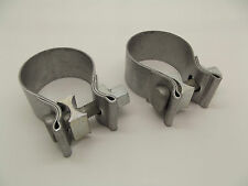 NEW Echt Porsche 986 Boxster Pair U Bend Silencer Exhaust Pipe Clamps x2