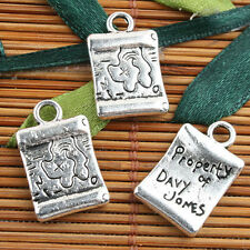Alloy metal Tibetan Silver color pattern charms 13pcs EF0103