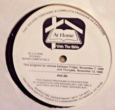 """Radio Show: SOUTHERN BAPTIST """"AT HOME w/THE BIBLE"""" 5 LPs w/10 HALF HOUR SHOWS!"""