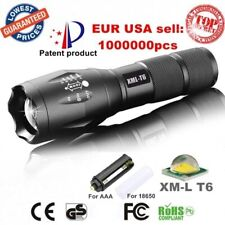 Alonefire Flashlight XML T6 LED Aluminum Waterproof Zoom Camping Torch + Clamp