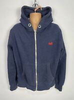 MENS SUPERDRY SIZE XL LARGE BLUE LONG SLEEVE HOODIE JUMPER CREW NECK SWEATER TOP