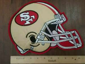 """NFL Patche S.F. 49ers Vintage Sew or Glue on Large 8""""× 10"""" embroidered rear new"""