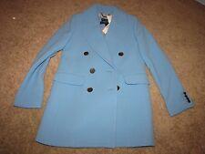 "NEW NWT *J. Crew"" Size 2 ""Double Cloth"" Blue Coat $350 F3915 Carmignano"