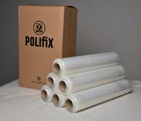 6 x Rollen Stretchfolie Verpackungsfolie transparent 23 my 2,5 kg  Echte 300 lfm