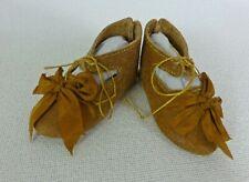 "/""jumeau/"" Scarpe dollmaking, 65mm Scarpe Di Pelle Per Bambola antico"