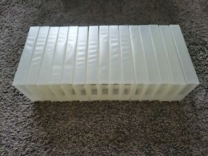 15 - Brand New Clear Plastic Sleeved VHS Tape Cases. PROTECT-O-TAPE brand.