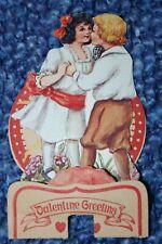 "Vintage Valentine Card ""Valentine Greeting"" Honey-Comb Stand-Up Feb. 14, 1920"